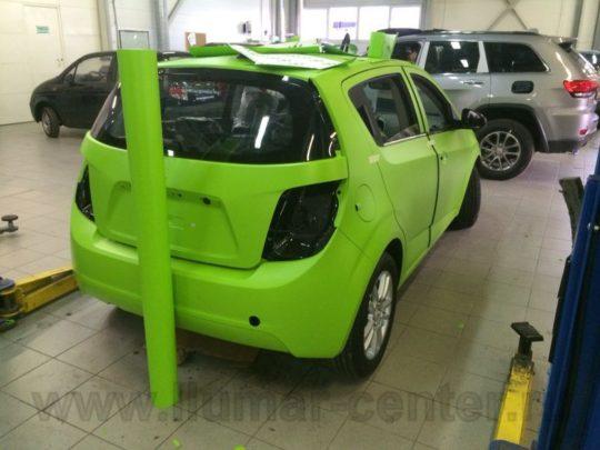 Chevrolet Aveo Оклейка пленкой