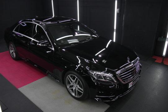 Mercedes S Защита кузова антигравийной пленкой