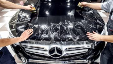 Оклейка автомобиля полиуретановой пленкой